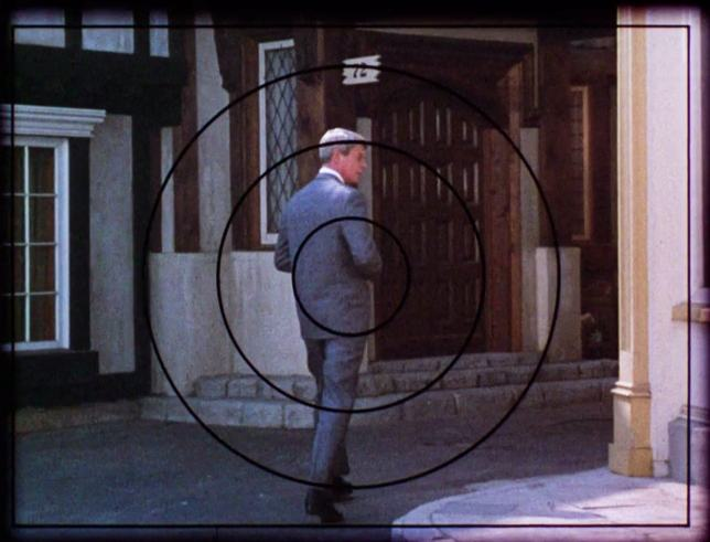 """Phelps (Peter Graves) is under surveillance, and loving it, in the complex """"Live Bait"""""""