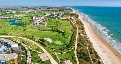 Golfanlage, Costa Ballena in Spanien