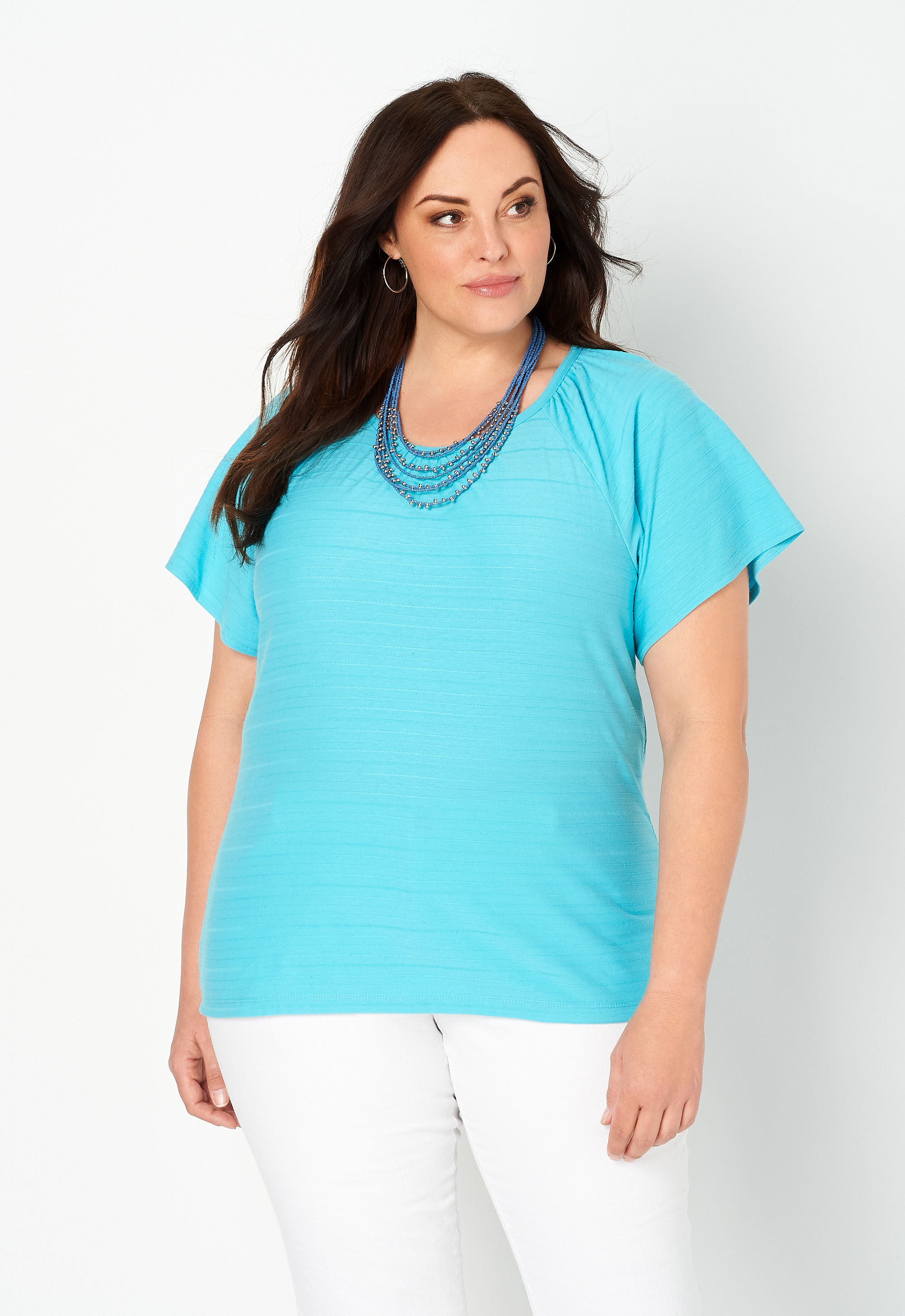 Smocked Flutter Sleeve Plus Size Top 26