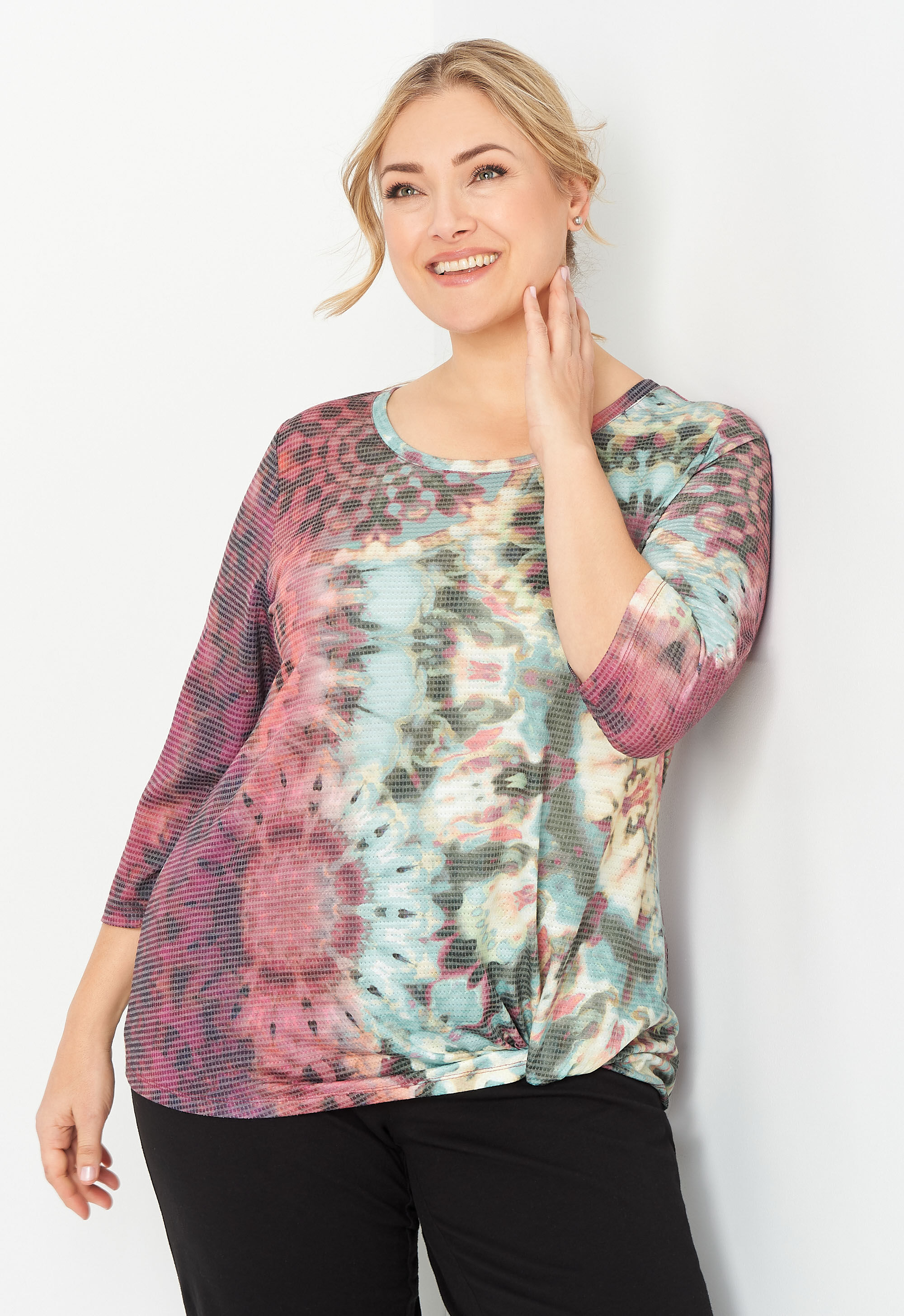 Relaxed Restyled Plus Size All Over Tie Dye Top 2