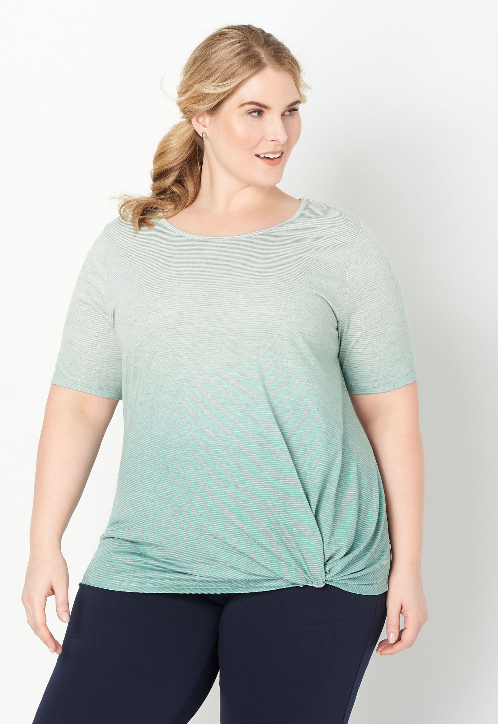 Relaxed Restyled Plus Size Ombre Tee 2