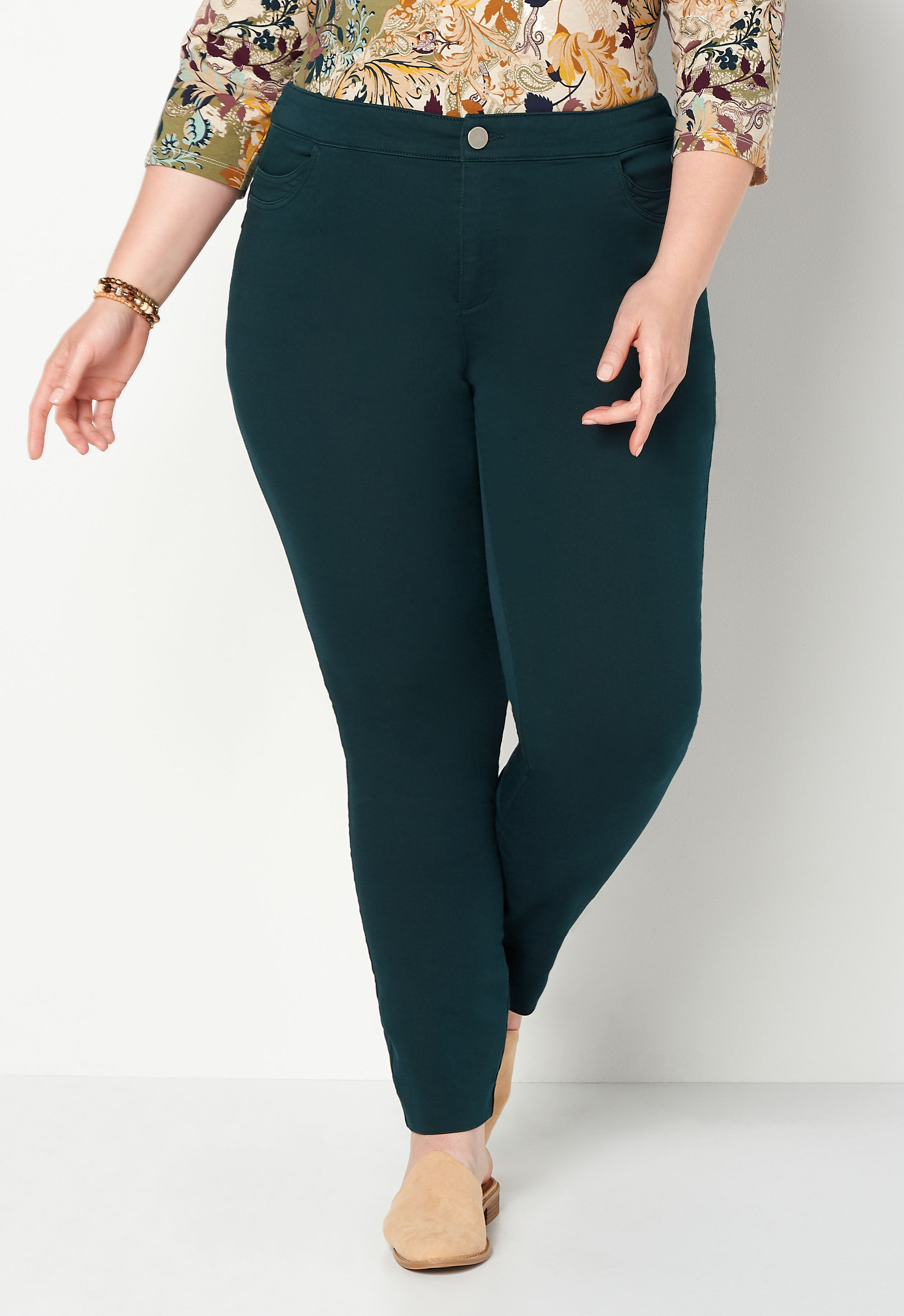 Super Stretch Tapered Plus Size Pant Petite Straight Fit 4