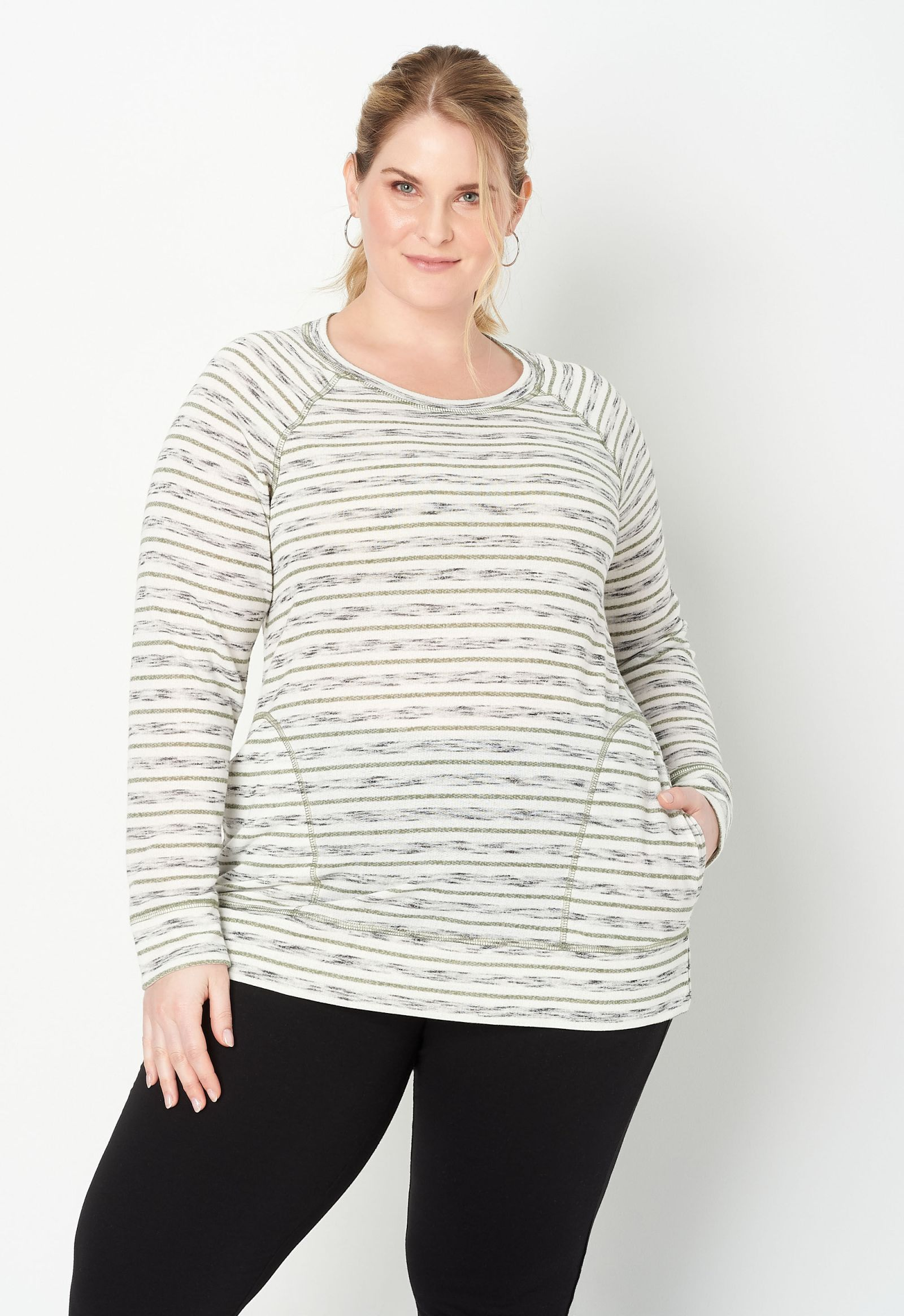 Relaxed Restyled Plus Size Striped Tunic 2