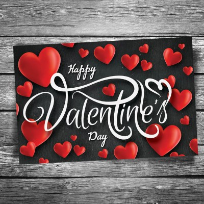 Valentine's Day Chalkboard Postcard