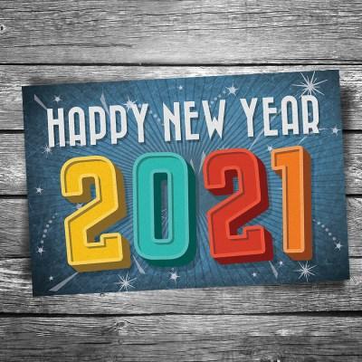 Happy New Year 2021 Postcard