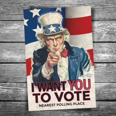 I Want You to Vote Postcard