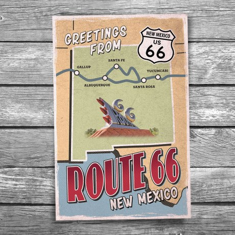 66-138-Route-66-New-Mexico-Map-Postcard