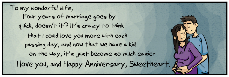 Happy 4th Anniversary Sweetheart