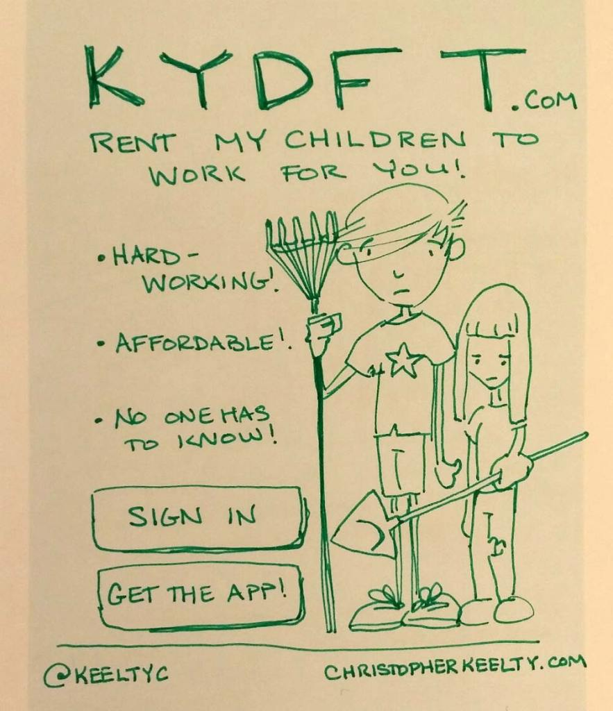 KYDFT - Sharing Economy Startup Comic by Christopher Keelty