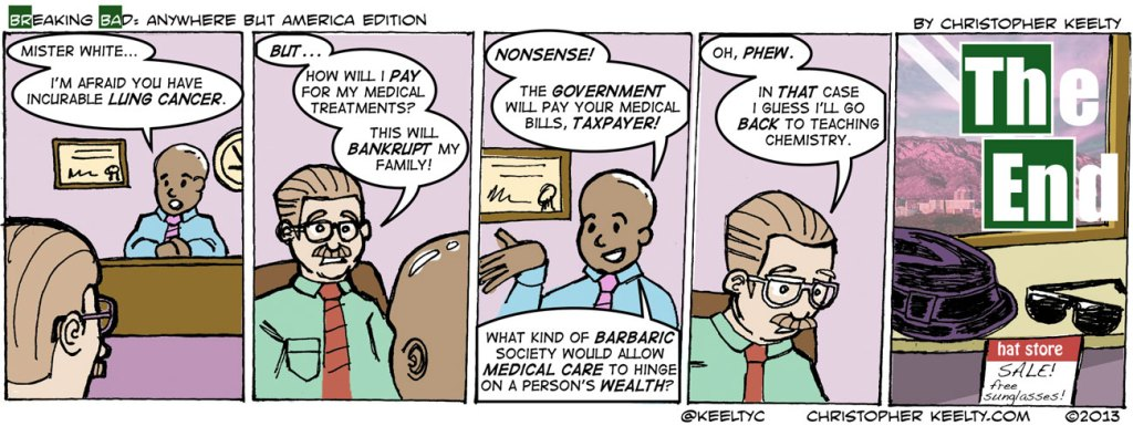 Breaking Bad: Anywhere But America Edition | Cartoon by Christopher Keelty