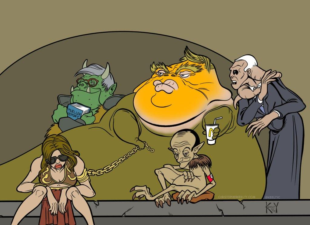 Jabba the Trump - Cartoon by Christopher Keelty