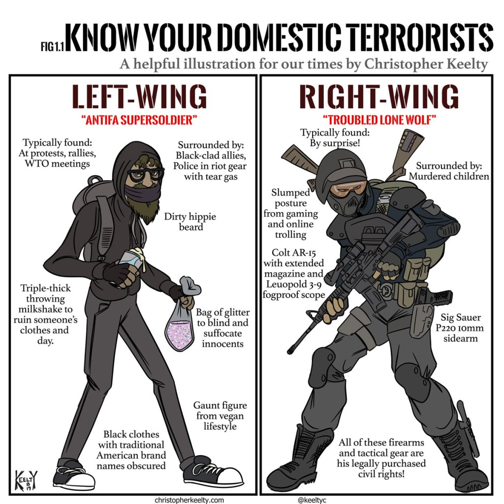 Know Your Domestic Terrorists - Comic by Christopher Keelty