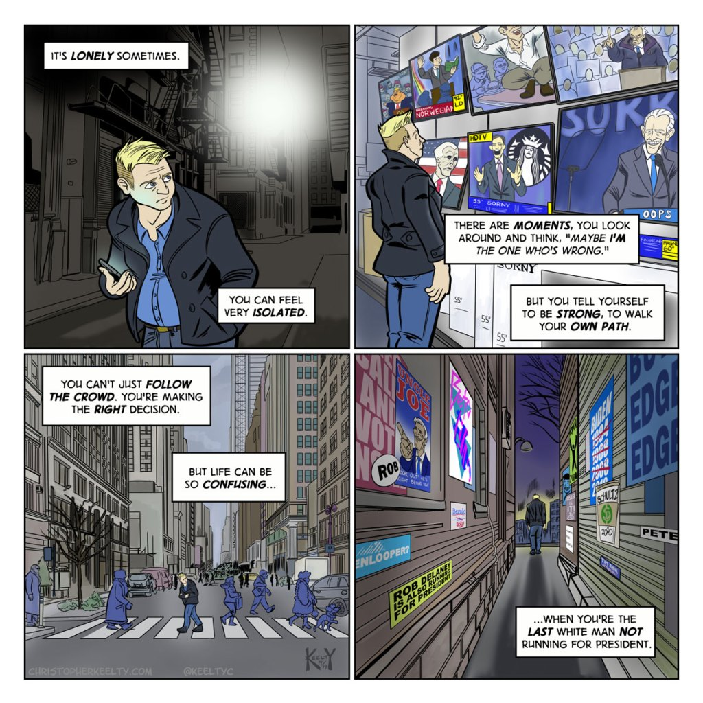 The Last White Man - Comic by Christopher Keelty