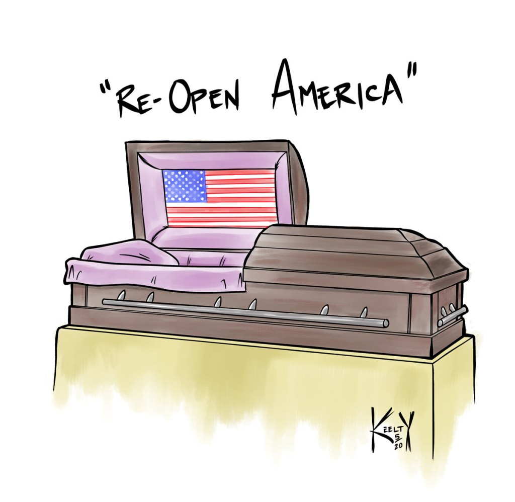 Re-Open America - Comic by Christopher Keelty