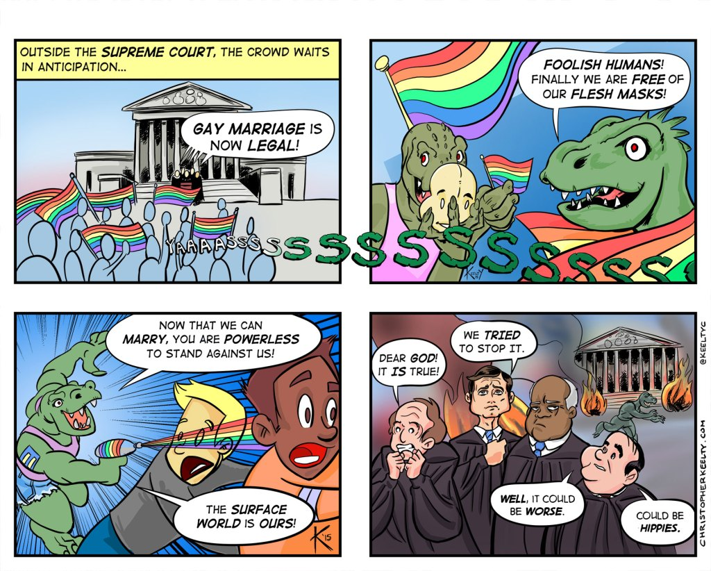 The L Stands for Lizardman - Comic by Christopher Keelty