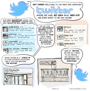 New Twitter Features - Comic by Christopher Keelty