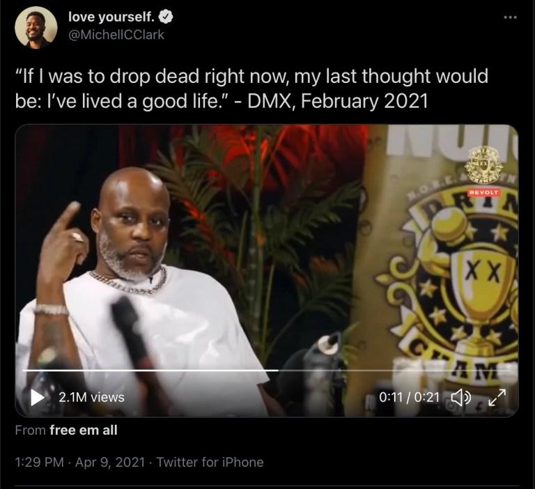 """DMX: """"I've lived a good life."""""""