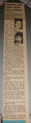 Christopher McCandless newspaper article