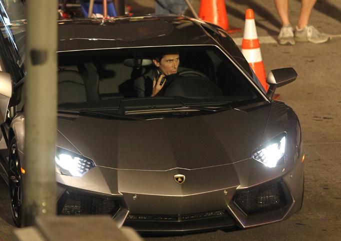 Bruce Wayne (Christian Bale) sur le tournage de The Dark Knight Rises à Los Angeles