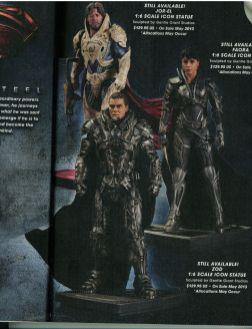 Jor-El, Zod et Faora et leurs costumes complets