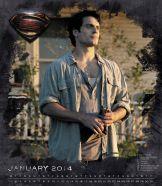 Clark Kent sur le calendrier