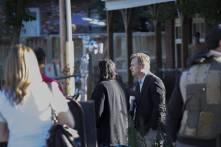 Christopher Nolan et Hoyte van Hoytema sur le tournage d'Interstellar à Okotoks