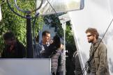 Matthew McConaughey en plein maquillage sur le tournage d'Interstellar à Okotoks