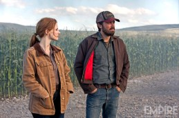 Jessica Chastain et Casey Affleck dans Interstellar