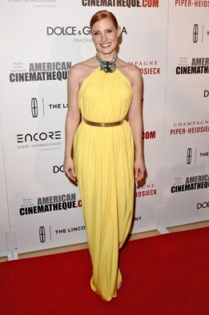 Jessica Chastain au gala de l'American Cinematheque 2014