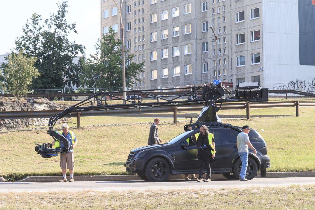 Hoyte van Hoytema pendant le tournage de Tenet sur Laagna tee, Estonie, le 17 juillet 2019