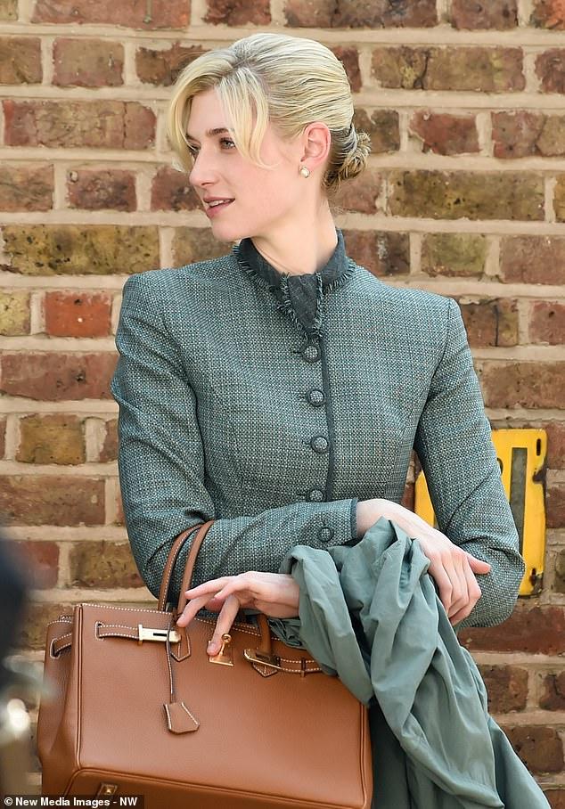 Elizabeth Debicki pendant le tournage de Tenet à Hampstead, au nord de Londres, le 27 août 2019