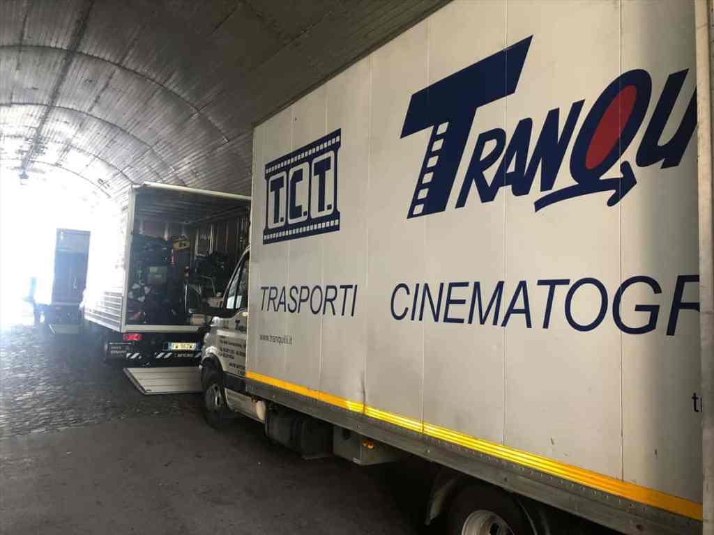 Pendant le tournage de Tenet à Ravello, Italie, le 31 juillet 2019