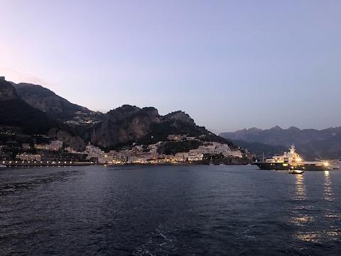 Pendant le tournage de Tenet à Amalfi, Italie, le 9 août 2019