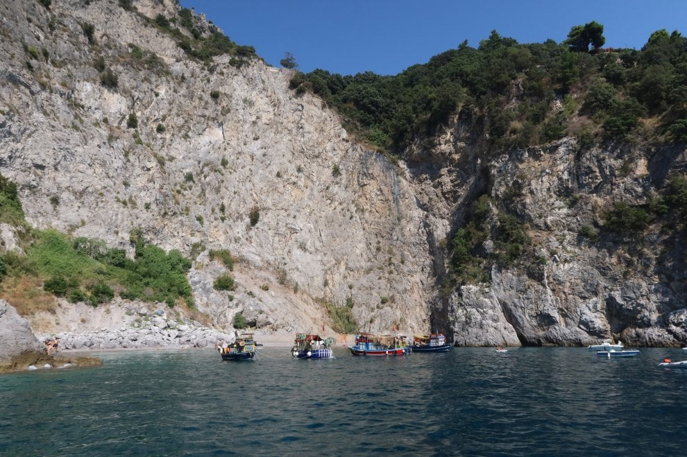 Pendant le tournage de Tenet à Maiori, Italie, entre le 16 et le 18 août 2019