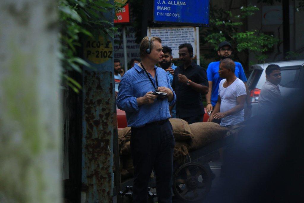 Christopher Nolan pendant le tournage de Tenet à Mumbai, Inde, le 17 septembre 2019