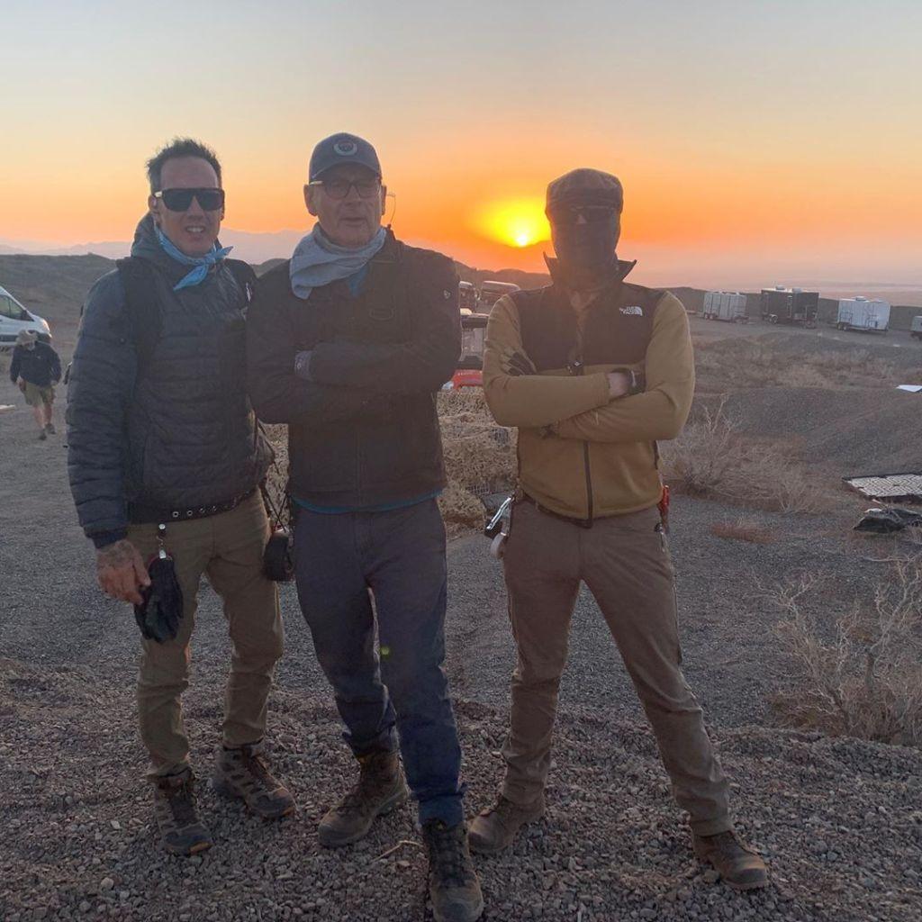 Sur le tournage de Tenet à Eagle Mountain, Californie