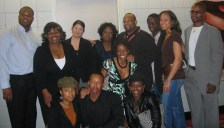 "Christopher C. Odom and Cornelius Booker III with the cast of ""23rd Psalm"" at the Pan African Film Festival 2006"
