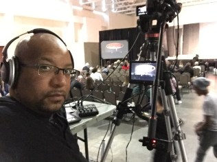Christopher C. Odom on location with Universal Event Photography