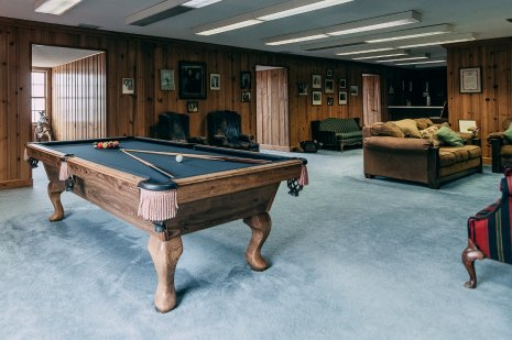 pool table couch lamp