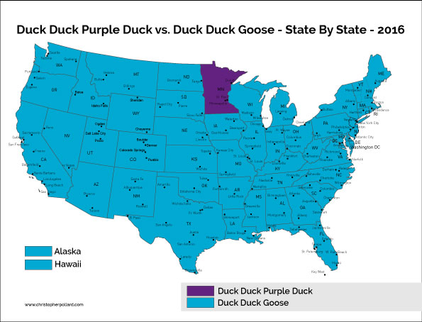 Duck Duck Purple Duck vs. Duck Duck Goose - 2016