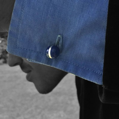 colour ball cufflinks blue