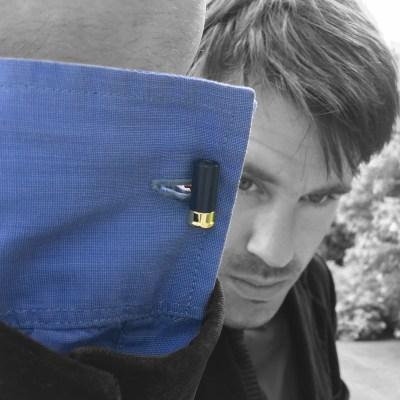 shotgun cartridge cufflinks blue
