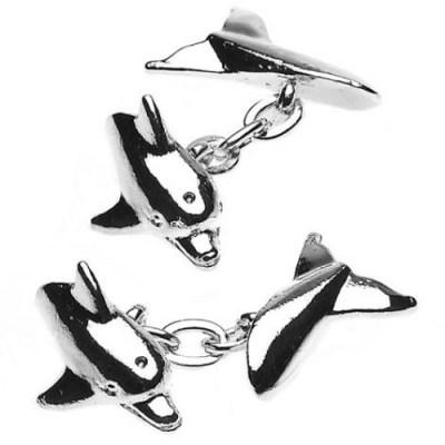 dolphin cufflinks