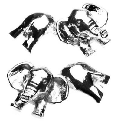 elephant cufflinks
