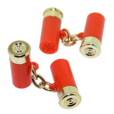shotgun cartridge cufflinks orange