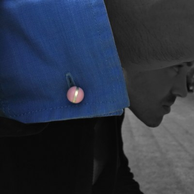 colour ball cufflinks pastel pink