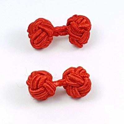 silk knot cufflinks red