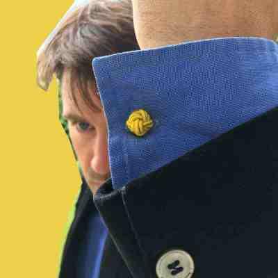 silk knot cufflinks yellow