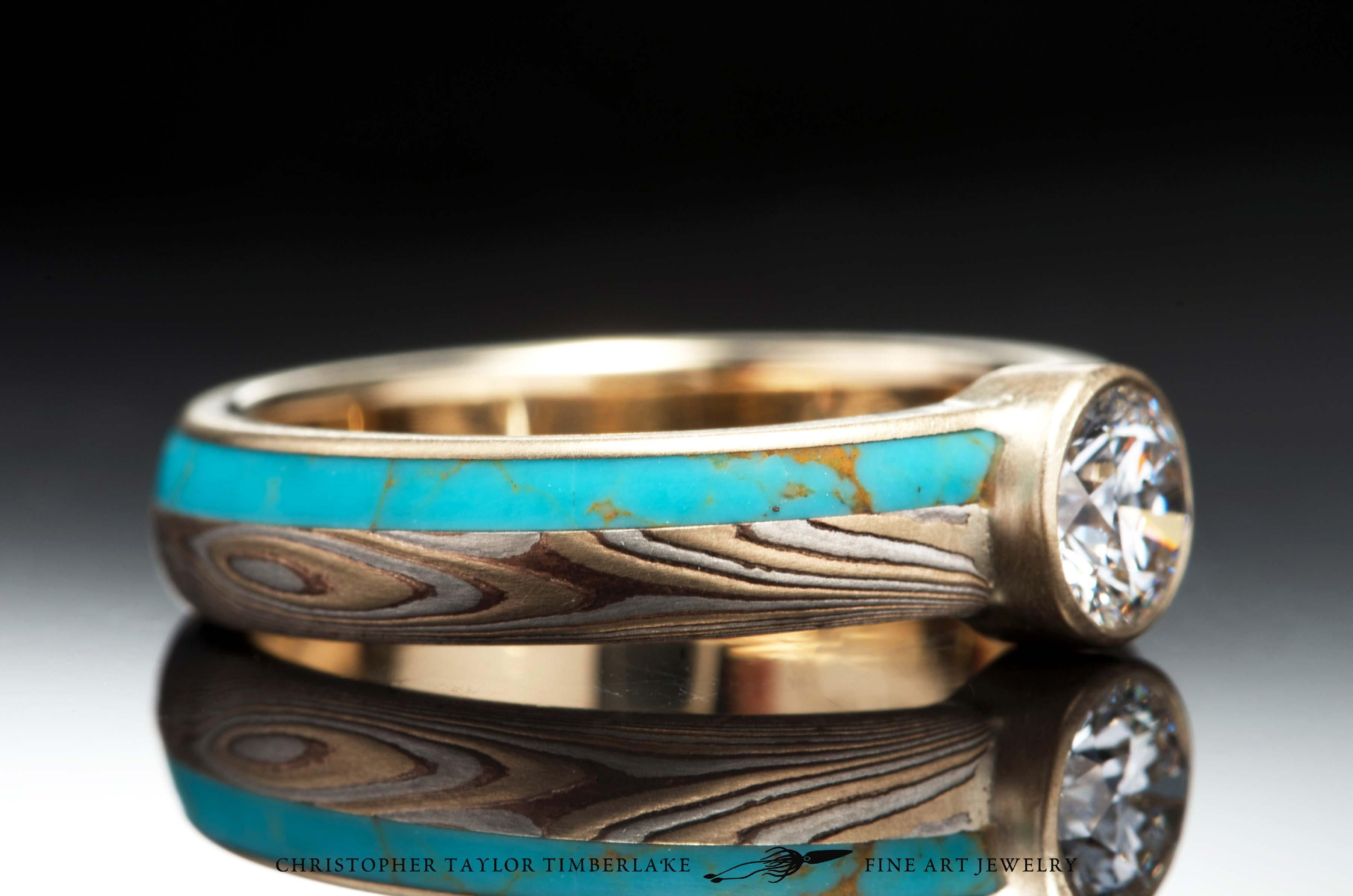Mokum Gane 14K Yellow Gold Shakudo And Sterling Silver