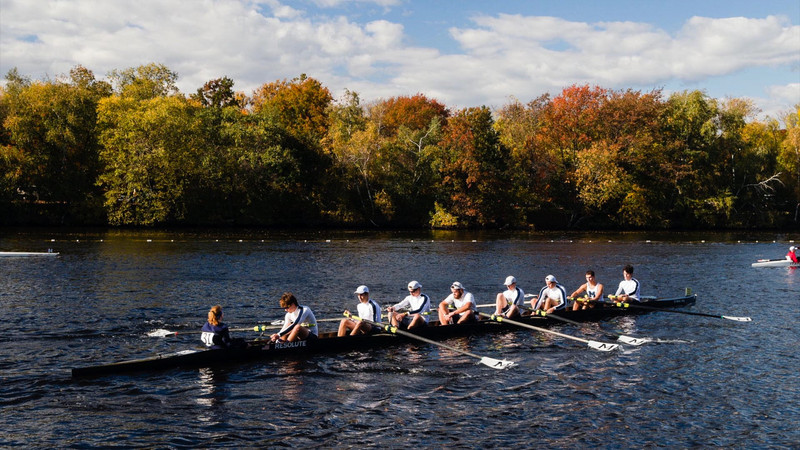 Caroline Moynihan, Freshman Coxswain of the Middlebury Varsity Men's Eight for the Head of the Charles Regatta